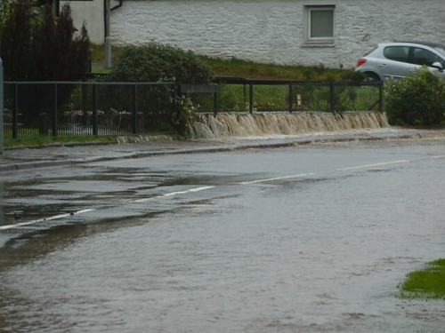 Ardrishaig flooding 27 August