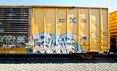 False (TheHarshTruthOfTheCameraEye) Tags: california train graffiti box rail northern freight false deth kult ttx dethkult railbox benching