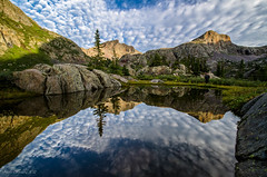 The tarn @ Moon Lake (Steve Flowers) Tags: moon lake reflection lens nikon bravo backpacking wilderness tarn weminuche 1024mm d7000 flickrsfinestimages1