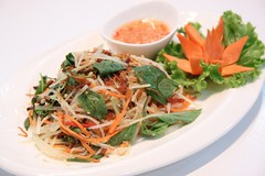 ส้มตำเวียดนามเนื้อเส้นแดดเดียว อร่อยแบบต้นตำรับ ร้านนาม บางนา