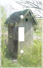 An old outhouse single switchplate (Charlotte Clarke Geier) Tags: computer print crafts digitalart computercrafts