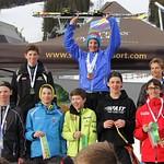 Sun Peaks Teck U14 Provincials - Boys' Podium, plus Nancy Greene Raine PHOTO CREDIT: Sarah Renzoni
