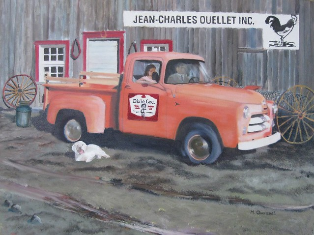 dog barn sthubert milkcan franchises dixielee fargotruck successfulbusinessman 1951dodgefargopickuptruck poultryfarmingindustry