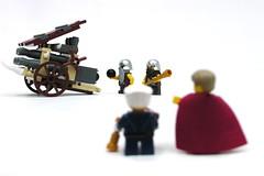 Dwarf Organ Gun (3) (Jeddy and Daddy) Tags: lego dwarf battle medieval story fantasy weapon warhammer artillery theme siege warmachines armies legoideas siegeweapon fantasyera castletheme castleera