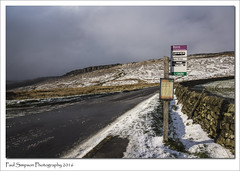 Rural Derbyshire (Paul Simpson Photography) Tags: road winter snow weather spring rocks derbyshire peakdistrict transport busstop stonewall drystonewall busroute photosof imageof photoof stangeedge ruraltransport imagesof sonya77 paulsimpsonphotography april2016 sringweather ruralbusnetwork