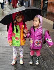 Colorful rainwear (d_rudofsky) Tags: rainyday upperwestside rainwear raincoats rainboots