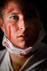 The Doctor (Morten Falch Sortland) Tags: portrait halloween oslo norway blood photographer no events makeup countries doctor surprised medic torshov shocked oslocity photomortenfalchsortland