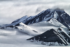 Svalbard summits (marko.erman) Tags: sky panorama sun mountains cold ice beautiful norway clouds montagne landscape calm glacier svalbard ciel midnight serene nordic iceberg polar icy nuage paysage extrieur bore spitzbergen summits
