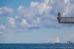 Among the Clouds (Infomastern) Tags: sea people cloud water boat titanic malm vatten hav moln sailingboat vstrahamnen mnniska