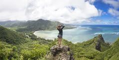 Kahana Bay Overlook (Marvin Chandra) Tags: portrait panorama landscape hawaii model oahu hiking hiker 24mm manamana 2016 d600 marvinchandra katsweets