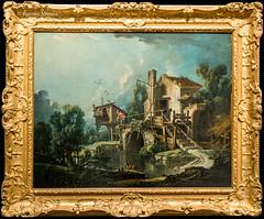 DSC8465 Franois Boucher - El Molino de Quiquengrogne en Charenton, hacia 1750-60, Museo de Bellas Artes de Orlans (ramonmunoz_arte) Tags: de orleans muse des museo artes francia bellas beauxarts