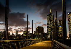 Towards the City (Leanne Cole) Tags: city bridge sunset architecture clouds cityscape photographer photos australia images victoria environment fineartphotography birrarungmarr cityofmelbourne 101collinsstreet environmentalphotography fineartphotographer nikond800 environmentalphotographer leannecole leannecolephotography