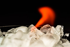 Ice on Fire! (Jantje1972) Tags: macromondays hotcold hot cold macro fire ice flame