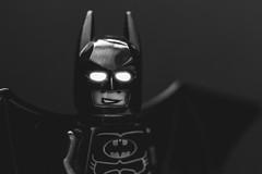 Evil fears the Knight (essexdiver) Tags: blackandwhite toys mono lego olympus batman minifigs minifigures legography olympus60mmf28macro omdem10