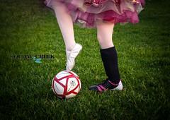 Soccer ballet (SquawCreekPhoto) Tags: blackandwhite ballet color girl dance goal soccer soccerball tutu leotard