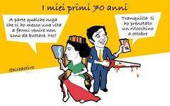 Festa della Repubblica: ma  giusto regalare un lifting autunnale ad una arzilla settant (SatiraItalia) Tags: satira