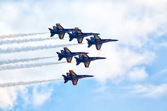 Blue Angels from my balcony (iaakisa) Tags: seattle usa plane washington aircraft military blueangels usnavy seafair frommybalcony boeingfa18hornet boeingfa18 mcdonnelldouglasfa18hornet seafair2011