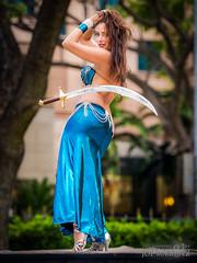 Bellydancer Malia - Joe Marquez The Smoking Camera _11E8399 (The Smoking Camera) Tags: blue sexy hair hawaii dance nikon dancing bellydancer malia sword honolulu bellydancing 70200mm d3s