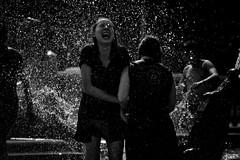 . (Thorsten Strasas) Tags: summer berlin fountain germany de fun sommer alexanderplatz townhall neptunbrunnen rotesrathaus mitte spass flashmob waterbattle wasserschlacht schwarzweis wasserwater