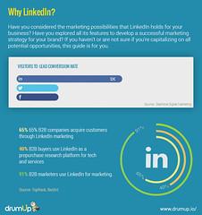 Linkedin Marketing Guide (Social Media & Content Curation Platform) Tags: design marketing media flat content social monitor company guide groups linkedin analytic marketingguide infographs drumup