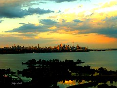 """""""Once you have tasted the taste of SKY, you will forever look up""""  - Leonardo Da Vinci (Trinimusic2008 -blessings) Tags: light summer sky sun toronto ontario canada color colour nature june night clouds dark to sunsetting 2016 trinimusic2008 viewfrommycondo judymeikle"""