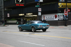 Blue Bird (Flint Foto Factory) Tags: auto city blue urban chicago black classic car vintage franklin march illinois spring automobile gm downtown afternoon traffic parkinggarage loop top searstower convertible jackson american firebird pontiac 1968 friday pm carpark sporty compact ragtop 2012 ponycar generalmotors fbody droptop worldcars willistower