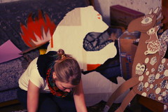 The factory of cardboard animals (kefir_junkie) Tags: cardboard process irinastepanova