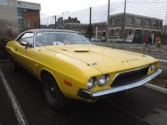 DODGE Challenger (xavnco2) Tags: france cars car yellow jaune automobile muscle exposition american dodge autos bourse classiccars challenger 2012 arras pasdecalais ravera saintlaurentblangy ravera6a