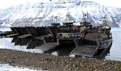 Royal Marines Landing Craft After a Beach Assault in Norway During Exercise Cold Response (Defence Images) Tags: uk snow ice beach norway training military hampshire arctic portsmouth british landingcraft defense defence amphibious royalnavy royalmarines beachassault coldresponse