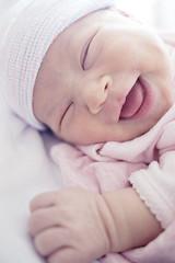 Mai 1st Smile on day 4 (Nachosan) Tags: baby smile happy lumix mai newborn bebe gf1
