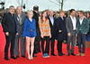 Alfonso Cuaron, David Yates, Evanna Lynch, Mike Newell, Bonnie Wright, David Barron, Rupert Grint, David Heyman and Tom Felton The worldwide Grand Opening event for the Warner Bros. Studio Tour London 'The Making of Harry Potter' held at Leavesden Studios London, England