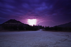 Lightning (BADER DHAIFALLAH) Tags: clouds farm saudi arabia lightning  makkah