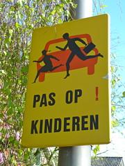 Children, watch out for red cars (Michiel2005) Tags: holland netherlands sign warning children kinderen nederland bord verkeersbord waarschuwing rijnsaterwoude
