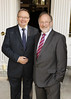 Andy O'Hara and John Pearson at the Hennessey Literary Awards held in the French Ambassadors Residence