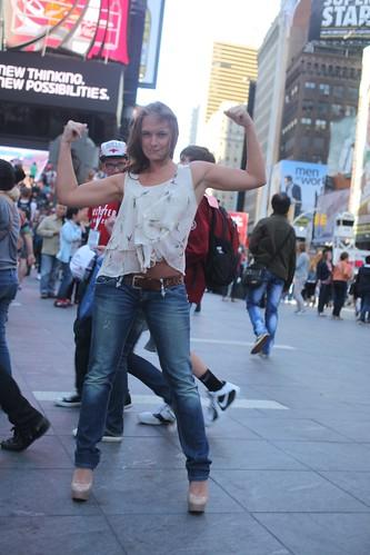 Strong Woman  Empoweredm beautiful  kind  artistic  times square  nyc  new york  imdb becca battoe   imdb sam botta livefearless  rick dees
