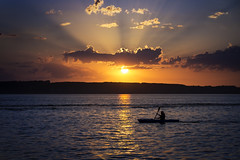 Pelican Sunset (bryanscott) Tags: sunset lake pelican canoe manitoba