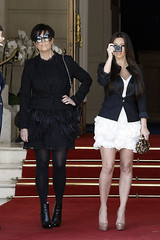 Kris Jenner (Kris Jenner in Tights) Tags: black hot sexy dress tights kris heels hott jenner nylons