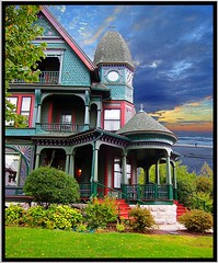 500 N McBride St ~ Syracuse NY ~ Architecture ~ Queen Anne/Victorian (Onasill) Tags: county new york house ny tower window st architecture anne state balcony victorian n style historic queen porch mission syracuse mansion 500 1001nights turret gable mcbride onondaga onasill