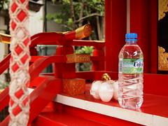 お供え物 (Neconote) Tags: japan pen tokyo olympus fukagawa f3556 1442mm mzuiko epl2 nanawatarishrine