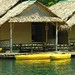 Rafthouse with kayaks, Khao Sok National Park, Southern Thailand