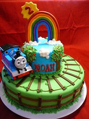 Thomas the Train Cake by Yvonne C, Twin Cities MN, www.birthdaycakes4free.com