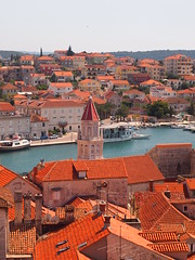 Cathedral Tower, Trogir, Croatia (ChihPing) Tags: city travel tower church digital pen lite lawrence cathedral croatia olympus f18 zuiko 45mm trogir  m43 lovre   lovro  epl1 microfourthird