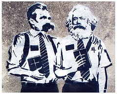 Nietzsche and Marx looking for work. Spain, 2009. (TU) Tags: karlmarx spain unemployment friedrichnietzsche