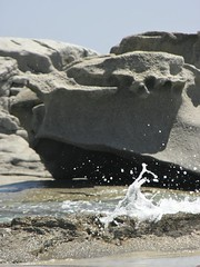 A little piece of sea hovered in the air (Amelie Malfoy) Tags: sardegna sea water drops rocks mare sardinia rocce acqua