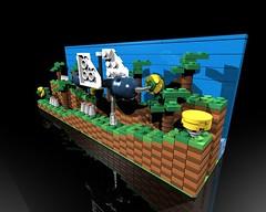 Lego Sonic the Hedgehog(Green Hill Zone) (gtrocks1111) Tags: shadow plants game green classic animal animals project toy toys video play amy lego dr bricks hill games sonic hedgehog blaze create build knuckles zone tails afol eggman cuusoo robotnik