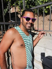 DSCN8258 (CAHairyBear) Tags: shirtless man men uomo hombre homme poolparty hom