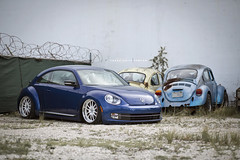 2013 Volkswagen Beetle Turbo / 360Forged Spec12 (360 Forged) Tags: blue vw canon miami air beetle turbo classics 5d slammed 305 2013