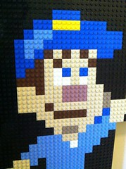 LEGO Fix It Felix Face (atotheh) Tags: game movie toy geek lego felix mosaic character awesome disney 8bit ralph moc fixit