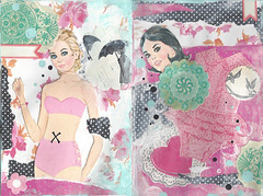X Marks The Spot (ittybittybirdy) Tags: mixedmedia barbie ivf feelingpretty artjournalpages chelseaann hormoneinjections