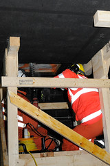 Double Whammy 2009 353 (IainDK) Tags: tynewearusarteambegincoringintotheceiling usar urban search rescue west yorkshire exercise double whammy whamy fire collapse multi agency xxx